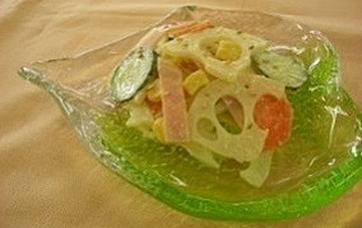 『れんこんサラダ写真』の画像
