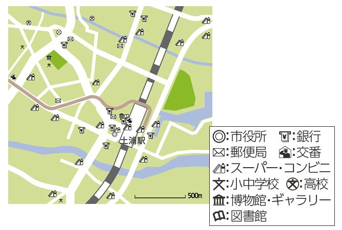 『土浦市内地図(5つの近い!その2)』の画像