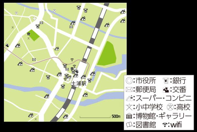 『意外と近い市街地地図』の画像